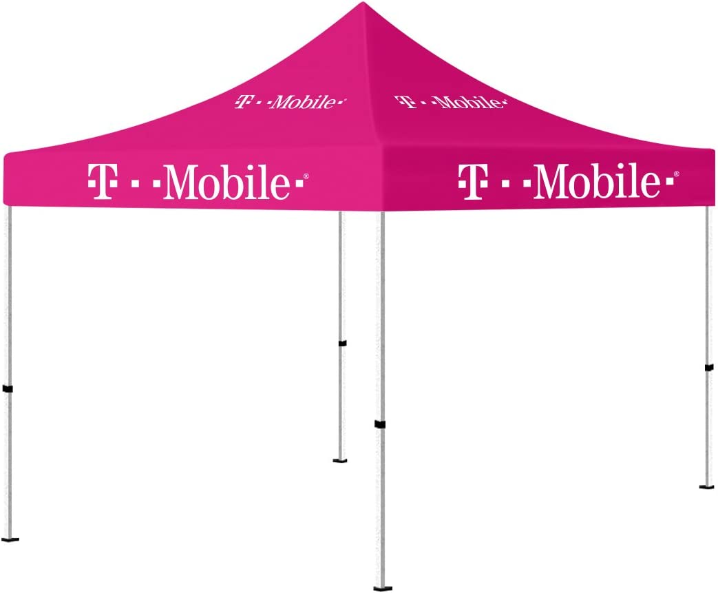 10 x 10 Portable Outdoor Canopy Tent Pink , Pop up Shelter (T-Mobile Printed) 519V8KDho2BLSL1200_