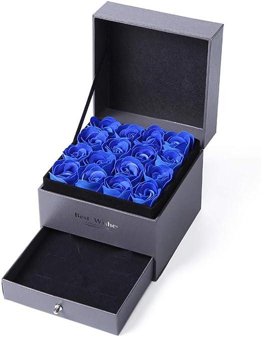 Zhongsufei-WA Regalo de San Valentin Flor de jabón Caja de Regalo ...