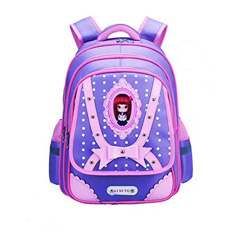 Elementary School Bags Bookbag Waterproof Lightweight bookbags Daypack Travel Camping Outdoor Double Backpack for Kids (Navy Blue1, One_Size)