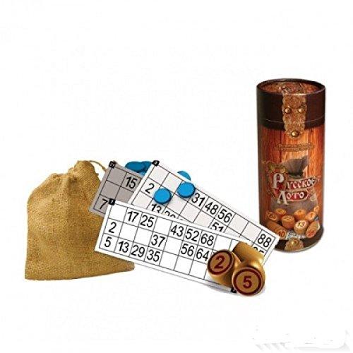 新しいロシアLoto Bingo古いゲーム木木製チップin theチューブクリスマスギフト 新しいロシアLoto B073WY4M4W B073WY4M4W, カイダムラ:83ad7871 --- holaste.cl