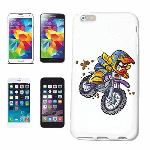 """cas de téléphone iPhone 6S """"MOTOCROSS EXTREME SPORT MOTOCROSS MOTOCROSS BIKE OUTDOOR Crossbike FREESTYLE"""" Hard Case Cover Téléphone Covers Smart Cover pour Apple iPhone en blanc"""