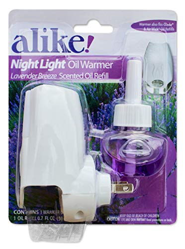 alike Night Light Plug in & Scented Oil Plug in Refill Combo