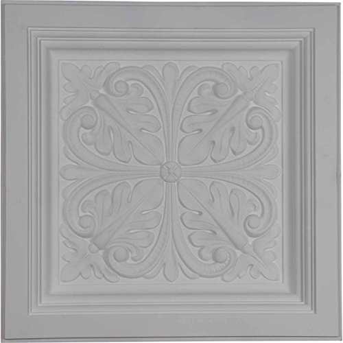 Ekena Millwork CT24X24CN Ceiling Tile, Factory Primed White