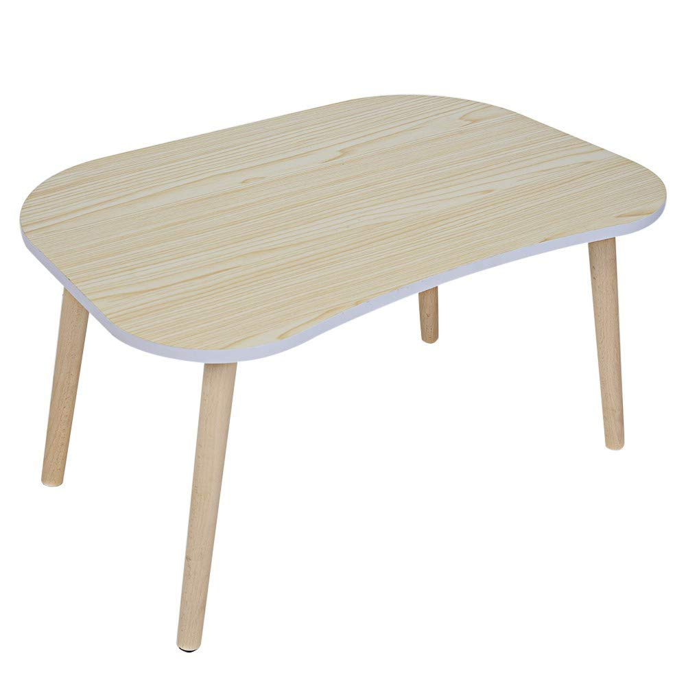 Lanyun Table Fast Delivery Solid Wood Legs Living Room Bed Laptop Window Leisure Dressing Desk Dining Table Workstation 23.7 x 15.8 x 11.9 inches