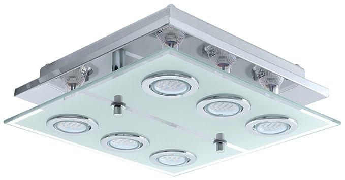 Deckenleuchte LED 18 Watt Deckenlampe Leuchte Wohnzimmer Glas ...