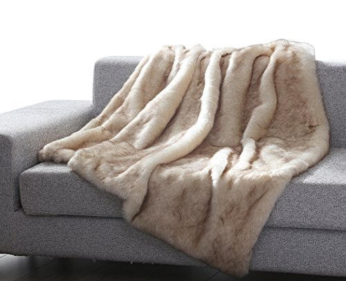 """OHC Into the Wild Heavy Faux Fur Throw Blanket (50"""" x 60"""") - Brown Wolf"""
