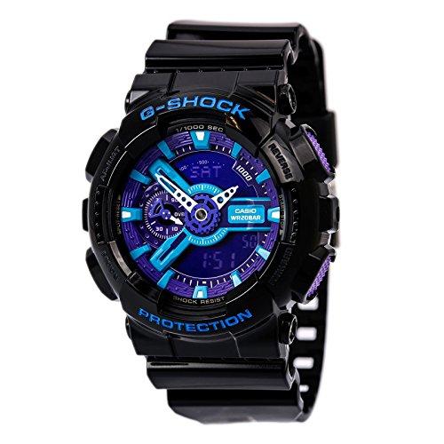 Casio Men's GA110HC-1A G-Shock Black and Red Multi-Function Digital Watch