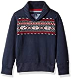 Tommy Hilfiger Toddler Boys' Pullover Shawl Sweater, Swim Navy, 2T