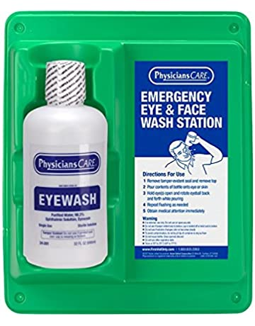 e0d8c7d182c Pac-Kit 24-202 Wall Mountable Eye Wash Station with Single 32 oz Bottle