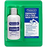 """PhysiciansCare by First Aid Only 24-202 Wall Mountable Eye Flush Station with Single 32 oz Bottle, 11-3/4"""" L x 4"""" W x 13-3/4"""" H"""