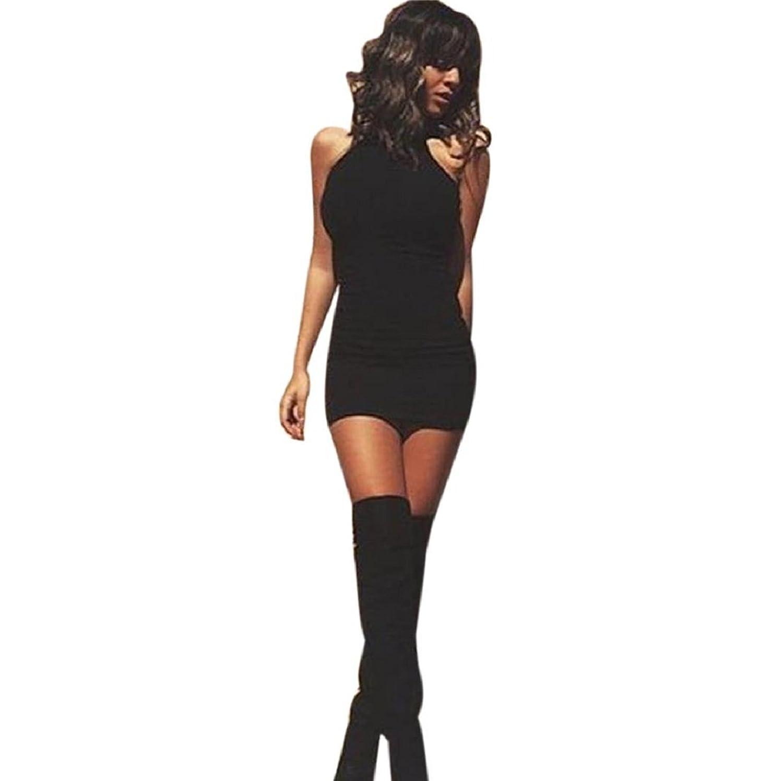 KEEPFUNNY Bandage Bodycon Sleeveless Evening Sexy Party Mini Dress