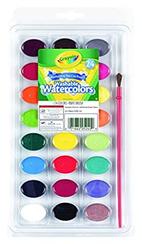 Crayola 24 Ct Washable Watercolors (Paint & Wall Covering Supplies)