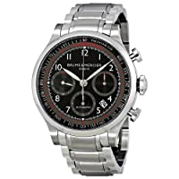 Baume & Mercier Men's MOA10062 Automatic Stainless Steel Black Dial Chronograph Watch from Baume & Mercier