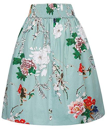 genou KK844 femmes vintage Jupe une lgantes jupe Kasin Kate ligne 2 au des jupes rtro 5wYtvFOx