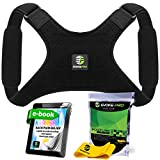 Back Posture Corrector for Women and Men + Resistance Band by Evoke Pro - Trains Your Back Muscles to Prevent slouching and Provides Back Pain Relief … (Regular)