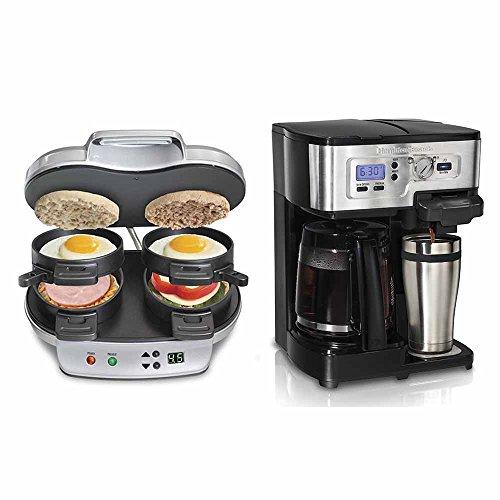Hamilton Beach Dual Breakfast Sandwich Maker And Hamilton Beach FlexBrew 12-Cup Coffeemaker (Coffee Maker Dual Hamilton Beach)