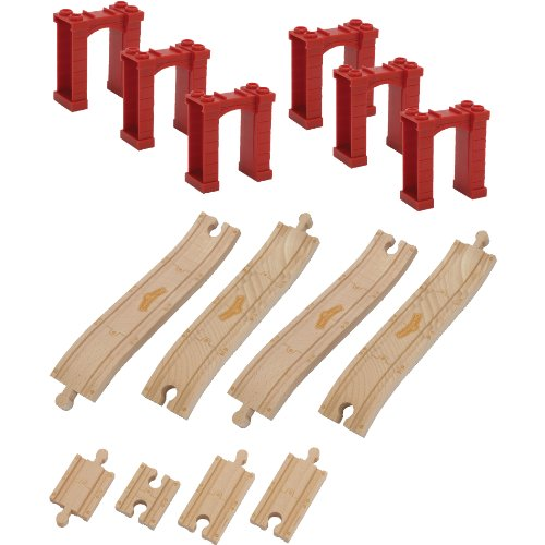 - Chuggington Wooden Railway Elevated Track Pack