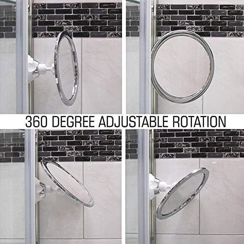 Specchio per Trucco Rotazione a 360 Gradi Senza Appannamento Liamostee con Ventosa