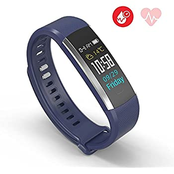 Jarv Run-Fit PRO Activity Tracker Bluetooth Smartwatch Fitness Band for iPhone or Android w/OLED Display, 7 Day Battery, Blood Pressure & Heart Rate Monitor ...