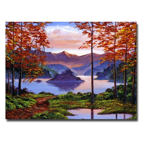 Trademark Fine Art Sunset Reverie by David Lloyd Glover Canvas Wall Art