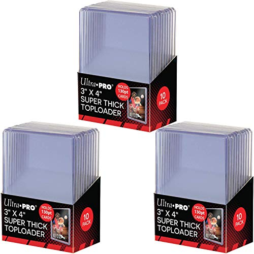 - Ultra Pro 3 x 4 Inches Super Thick Top Loader | Holds 130-Point Cards | 30-Count