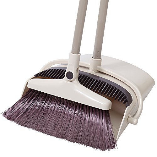Rotatable Broom and Dustpan Set Standing Upright Grips Sweep Set with Lobby Broom Combo Set for  ...