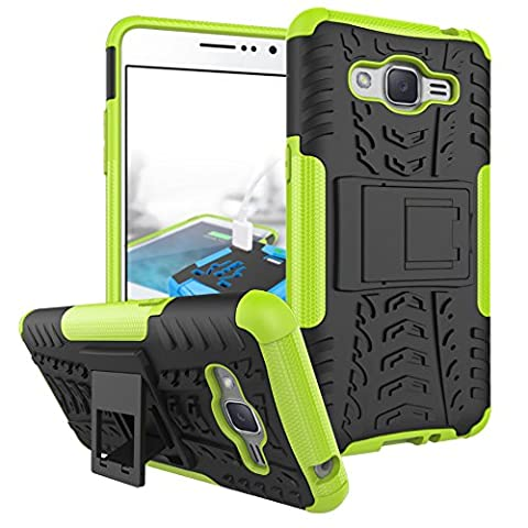 Galaxy Grand Prime Plus Case, Galaxy J2 Prime Case, SUMOON [Shock Absorption] Hybrid Dual Layer Armor Defender Protective Case With Kickstand For Samsung Galaxy Grand Prime Plus / J2 Prime (Dark Layers Volume 2 Volume 1)
