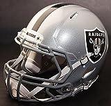 Riddell Speed OAKLAND RAIDERS NFL REPLICA Football Helmet with S2BD Football Helmet Facemask/Faceguard