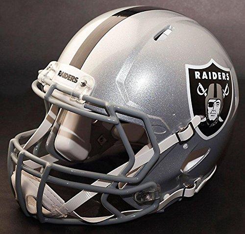 Riddell Speed OAKLAND RAIDERS NFL REPLICA Football Helmet with S2BD Football Helmet Facemask/Faceguard by Riddell