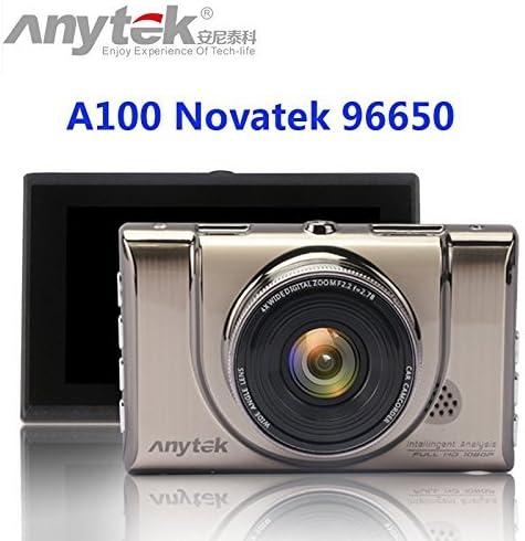 HD 1080p Voiture Tableau de Bord Cam DVR Novatek 96655/Dash Cam 6/GA Car Camera Ar0330/1080p WDR Moniteur de stationnement Vision Nocturne Black Box Anytek @ Car Dash Camera A100/+ 16/Go Carte TF