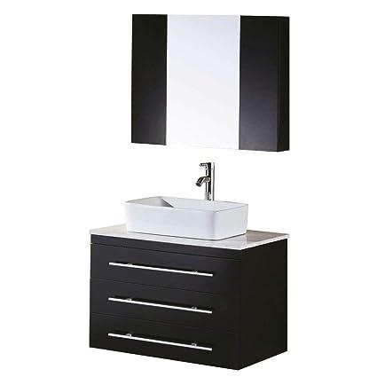 Design Element Elton WallMount Single Vessel Sink Vanity With Enchanting Bathroom Remodeling Portland Set