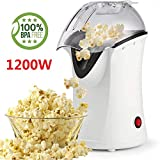 Best Hot Air Popcorn Poppers - 1200W Popcorn Machine Electric Machine Maker 4 Cups Review