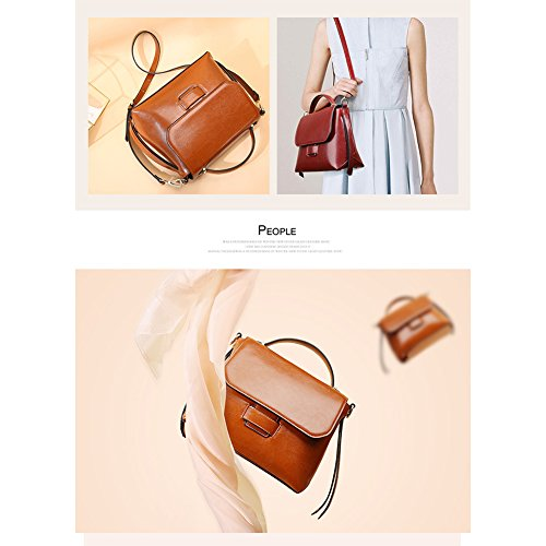 Purses Phone Yoome Shoulder Brown Bag for Bags Cell Women Bags Cowhide Handbag Crossbody Leather Daily Vintage rSzPrq