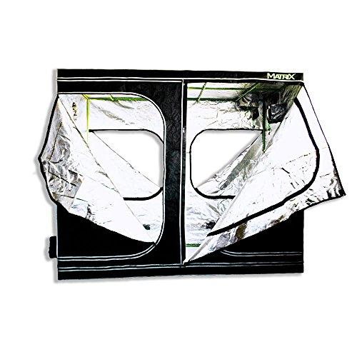 """519VDGp PfL - Matrix Horticulture 96""""x48""""x80"""" Grow Tent Diamond Mylar 600D Hydroponic Growing Room Box for Indoor Plants Observation Window Arch Door D Design 8x4 4x8"""