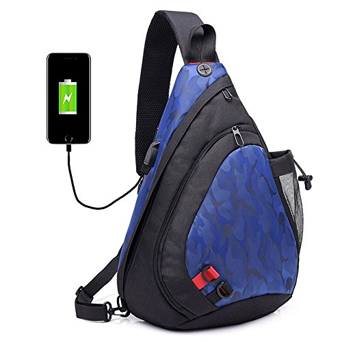 Chest a Borse Uomo tracolla Bag tracolla multiuso Donna Shoulder Sling Backpack Borse a Travel per Daypack triangolo Crossbody Zaino Xuanbao Blu qt5PgP