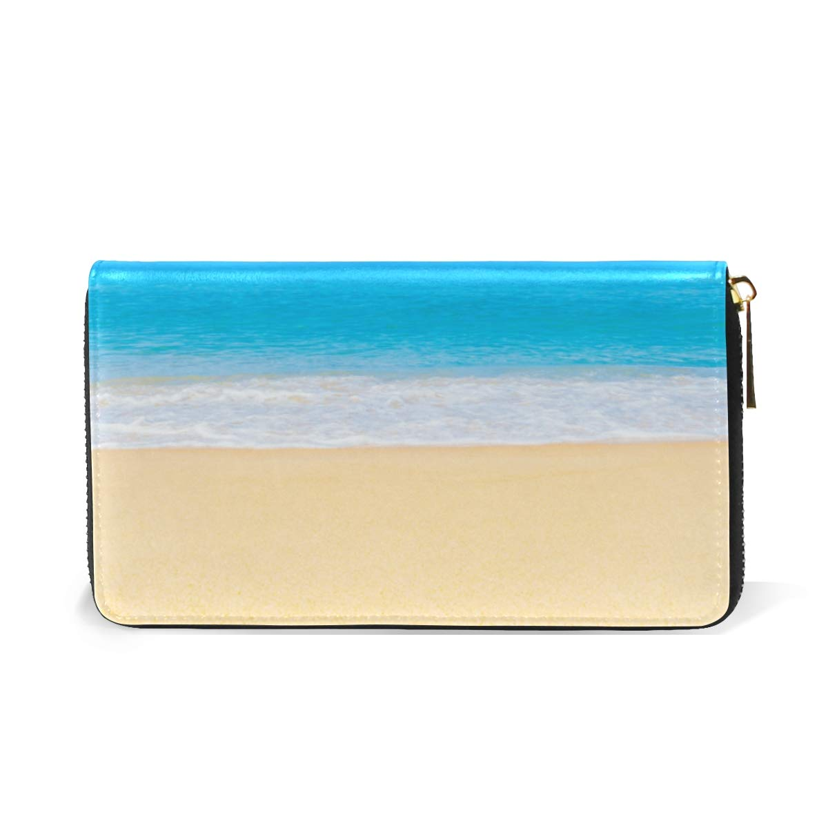 Women Wallet Coin Purse Phone Clutch Pouch Cash Bag,Beach Sky Landscape Female Girl Card Change Holder Organizer Storage Key Hold Elegant Handbag Gift
