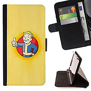 BullDog Case - FOR/Apple Iphone 6 PLUS 5.5 / - / Vault Boy Poster /- Monedero de cuero de la PU Llevar cubierta de la caja con el ID Credit Card Slots Flip funda de cuer