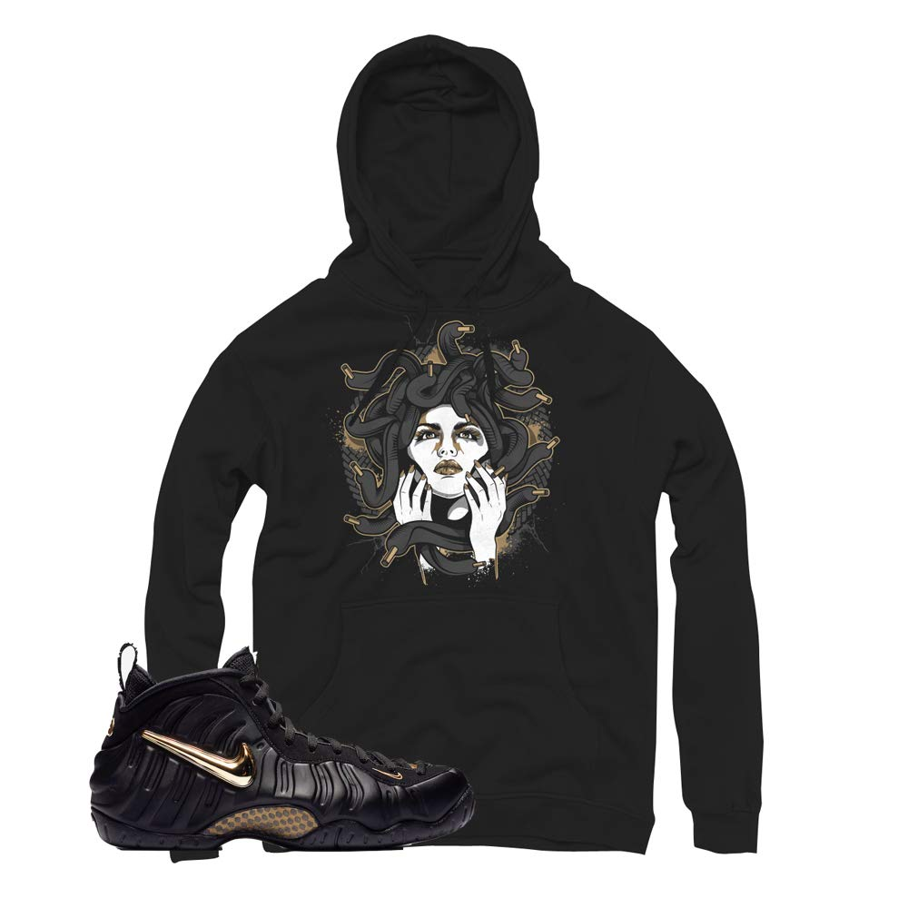 newest 1ff51 aa1be Foamposite Pro Gold Medusa Hoodie to Match Foamposite Pro Metallic Gold  Sneakers at Amazon Men s Clothing store