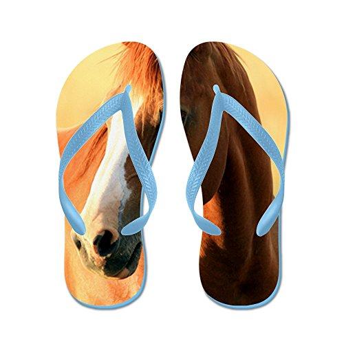 Cafepress Horse, 1 Ritratto - Infradito, Divertenti Sandali Infradito, Sandali Da Spiaggia Blu Caraibico