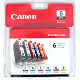 Canon BCI-6 Color Ink Tank 6-Pack Set