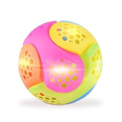 1pcs Música luz Que rebota la Bola del bebé Noctiluca Creative Learning Potencia del Flash Regalo Música Saltar Girar Caliente eléctrico Bailar Pelota de Juguete: Juguetes y juegos