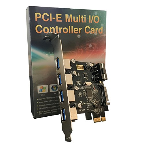 Angel mall USB 3.0 PCIe Expansion Card, 4 Port PCI-e to USB 3.0 Adapter, USB3 Card PCI Express Controller Hub PCI-E to USB 3.0 Add On card, Support 4Pin or 15 pin power interface. by Angel mall (Image #5)