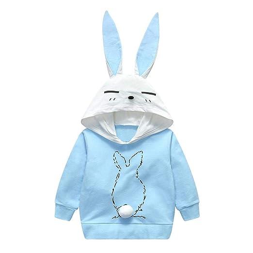 Sudadera con capucha para niños AFFEco, manga larga, orejas de conejo, primavera,