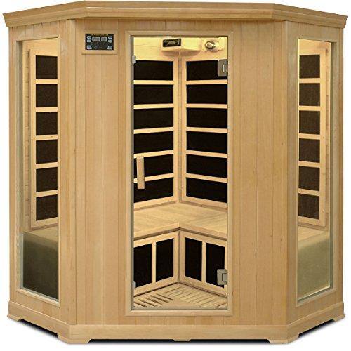 Crystal Sauna FWH350 3-4 Person Corner Family Infrared Sauna