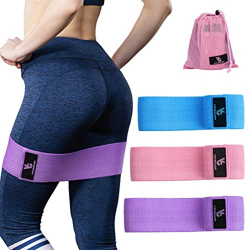 Vinsguir Fabric Resistance Bands for Legs and Butt, Exercise Bands for Women Hip, Circle Workout Bands Wide Fitness Bands for Squats Training, Glutes, Legs and Thigh Shaping, Anti Slip and Rolling
