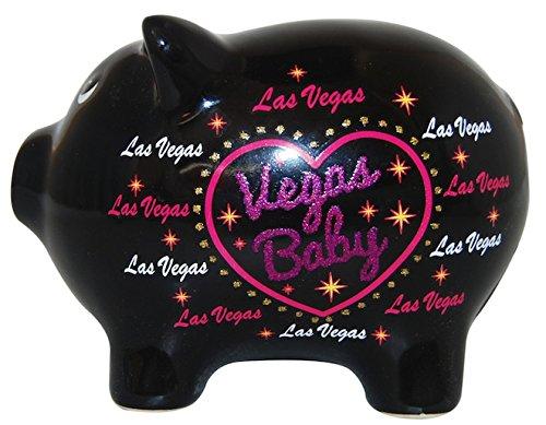 Vegas Baby Flashy Glitter Designed Souvenir Piggy Bank - Vegas Coin