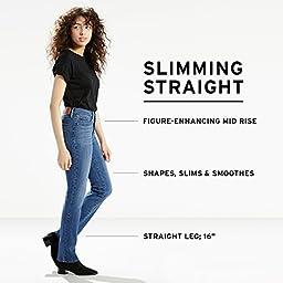 Levi\'s Women\'s Slimming Straight Jean, Pacific Street , 32 (US 14) R