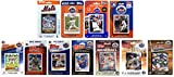 C&I Collectables MLB New York Mets Mens METS1117TSNew York Mets 11 Different Licensed Trading Card Team Sets, White, N/A