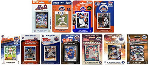 C&I Collectables MLB New York Mets Mens METS1117TSNew York Mets 11 Different Licensed Trading Card Team Sets, White, N/A from C&I Collectables