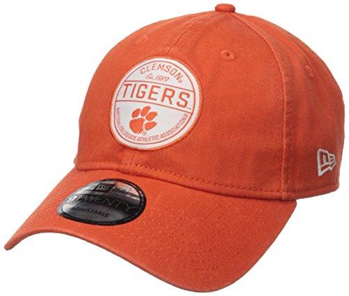 New Era NCAA Clemson Tigers Adult Core Standard 9TWENTY Adjustable Cap, One Size, Orange